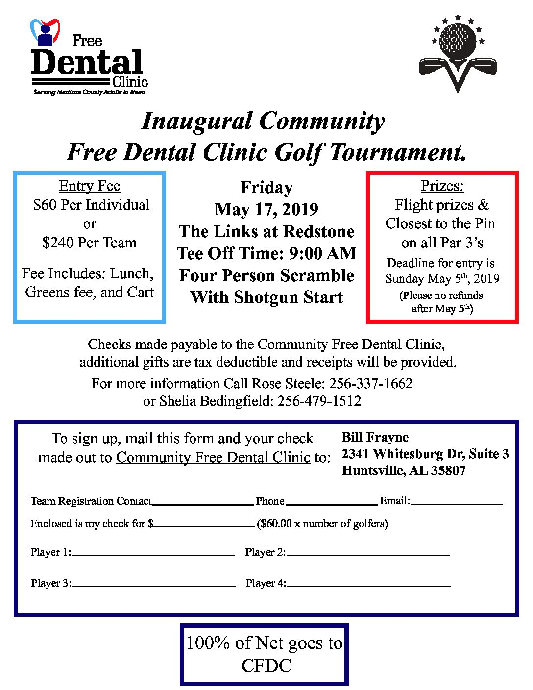 Golf Tournament – May 17, 2019